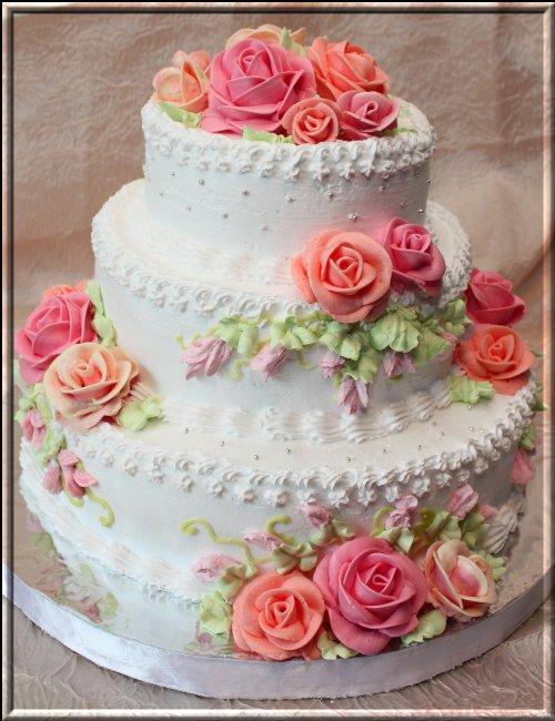 Трёхэтажные торты с днём рождения